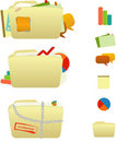 Stuffed Folder Icons Royalty Free Stock Photo