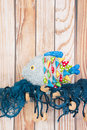 Stuffed funny fish at home Royalty Free Stock Photo