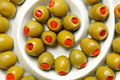 Stuffed green olives Stock Photo