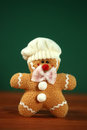 Stuffed homemade gingerbread christmas man happy Royalty Free Stock Image