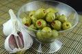 Stuffed olives Royalty Free Stock Photo