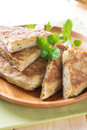 Stuffed pancake murtabak or pan fried bread martabak or also mutabbaq Royalty Free Stock Photos