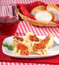 Stuffed Pasta Shells Stock Photography