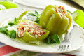 Stuffed pepper Royalty Free Stock Photo