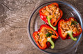Stuffed peppers Royalty Free Stock Photo