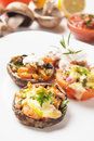 Stuffed portabello mushrooms Stock Images
