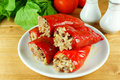 Stuffed red pepper Royalty Free Stock Photo