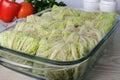 Stuffed savoy cabbage Royalty Free Stock Photo