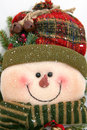 Stuffed snowman Stock Photo