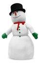 Snowman On White