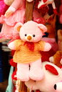 Stuffed soft toys toy a bear is on display Royalty Free Stock Image