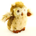Stuffed toy baby owl furry isolated Stock Photos