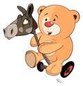 A Stuffed Toy Bear Cub And A W...