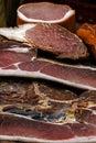 Stukken van gerookt varkensvlees bacon-5 Royalty-vrije Stock Fotografie