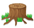 Stump vector illustration Royalty Free Stock Photo