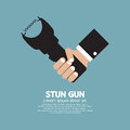 Stun gun a personal security weapon vector illustration Stock Image