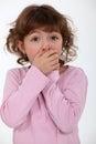 Stunned little girl