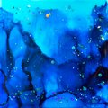 Seascape Ink and Glitter Abstract