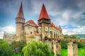 The stunning famous corvin castle,Hunedoara,Transylvania,Romania,Europe Royalty Free Stock Photo