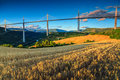 Stunning famous viaduct of Millau,Aveyron region,France,Europe Royalty Free Stock Photo