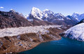 Stunning gokyo valley in the nepalese himalaya near mount everest Royalty Free Stock Photography