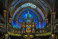 Stunning interior of Notre-Dame Basilica in Montreal, Canada.