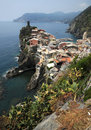 Stunning Italy - village of Vernazza Royalty Free Stock Photo