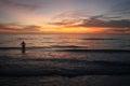 Stunning Ocean Sunset Royalty Free Stock Photo