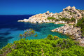 Stunning Sardinia coastline with rocks and azure clear water, Costa Smeralda, Sardinia, Italy Royalty Free Stock Photo