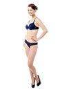 Stunning sexy woman in bikini perfect body looking at camera Royalty Free Stock Photos