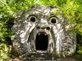 Stunning View Of Orcus Mouth, A Grotesque Sculpture At Famous Park Of The Monsters, Also Named Sacred Grove, Bomarzo Gardens, Prov