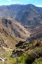 The stunning view over the Colca Canyon