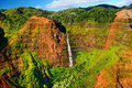 Stunning view into Waimea Canyon, Kauai Royalty Free Stock Photo