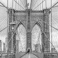 stunning views of the Brooklyn Bridge, New York City Royalty Free Stock Photo