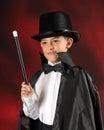 Stunning Young Magician Royalty Free Stock Photos