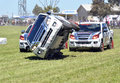 Stunt driving the team isuzu d max preformed stunts at the royal geelong show it is now in its year Stock Photos