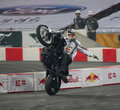 Stunt rider Royalty Free Stock Photo
