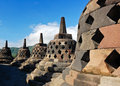 Stupa in Borobudur Temple in Yogyakarta, Indonesia Stock Photography