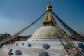 Stupa in boudhanath stupa bodnath stupa temple in kathmandu nepal the largest Royalty Free Stock Image