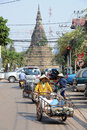 Stupa of That Dam temple at Vientiane Royalty Free Stock Photography