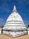 Stupa with gold buddha statue inside Stock Photo