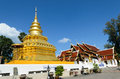 Stupa or jedi thai style golden Royalty Free Stock Images