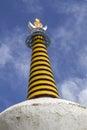 Stupa am Lamayuru Kloster in Ladakh, Indien Lizenzfreie Stockfotos
