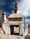 Stupa in Leh old town - Ladakh Royalty Free Stock Photo