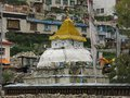 Stupa in Namche Bazaar, Everest Region Royalty Free Stock Photo