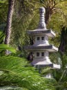 Stupa typical antique japanese at a park Royalty Free Stock Photography