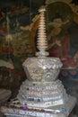 Stupa viejo dentro de un monasterio en Ladakh, la India Fotografía de archivo
