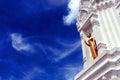 Stupa of Wat Mahathat Yuvarat Rangsarit Ratchaworamahavihan in Bangkok Royalty Free Stock Photo