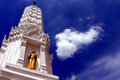 / Stupa of Wat Mahathat Yuvarat Rangsarit Ratchaworamahavihan in Bangkok Royalty Free Stock Photo