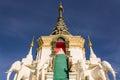 Stupa in wat mokkanlan chomthong chiangmai thailand stairczase and Royalty Free Stock Image